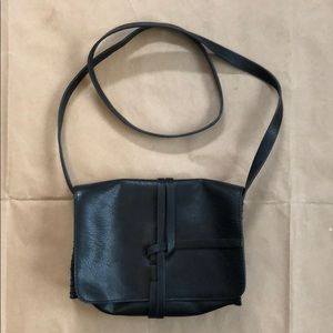 Other - Black Faux Leather Crossbody Purse